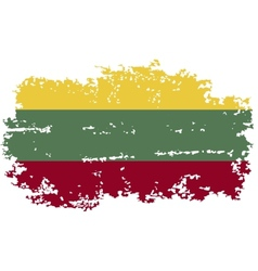 Lithuanian grunge flag vector