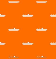 Little powerboat pattern seamless vector