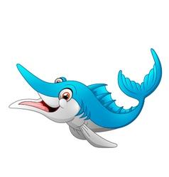 Marlin fish cartoon vector image vector image