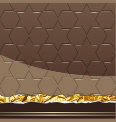 Milk chocolate pattern vector
