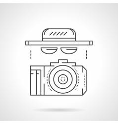 Paparazzi accessory flat line icon vector