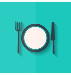 Plate web icon Flat design vector image vector image