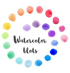 Set of watercolor blots vector