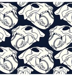 Skull animal seamless pattern ball vector