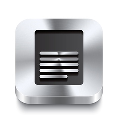 Square metal button perspektive - page icon vector