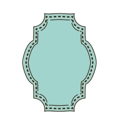 Vintage frame icon with rectangular shape vector