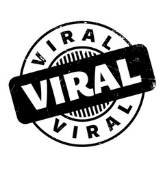 viral rubber stamp vector image