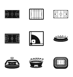 Championship icons set simple style vector image