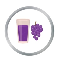 Grape juice icon of for web vector