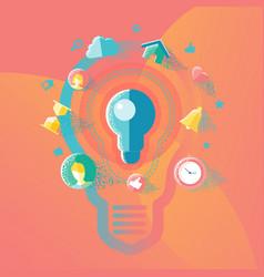 Ideas and creative concepts vector