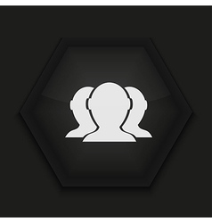 Creative icon on black background eps10 vector