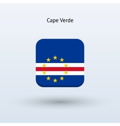 Cape Verde flag icon vector image
