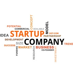 Word cloud startup company vector