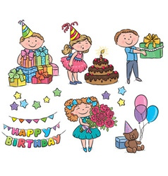 Kids birthday vector