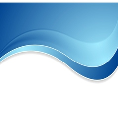 Abstract blue shiny waves background vector image