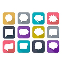 Colorful flat speech bubbles vector