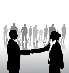 business arrangement vector image