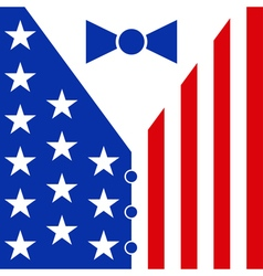 Suit in the colors of the american flag vector