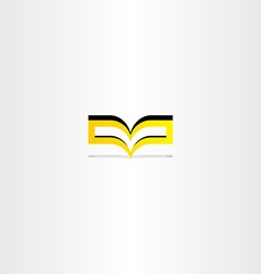 Yellow book logo icon vector