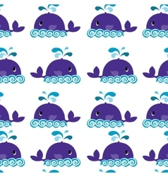 Whale on a white background vector