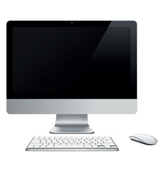 Abstract desktop computer vector