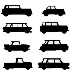 Set of classical cars vector image