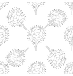 Abstract seamless pattern with flower vector image vector image