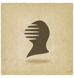 antique helmet old background vector image vector image