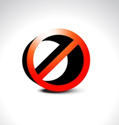 ban not allowed sign vector image