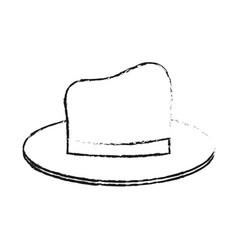 Black blurred silhouette cartoon elegant hat with vector