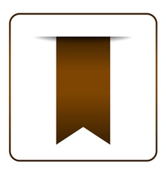 Brown bookmark symbol vector