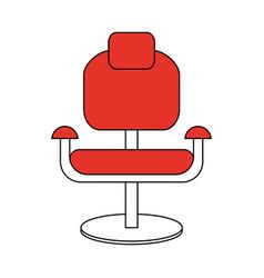 Color silhouette cartoon comfortable red desk vector