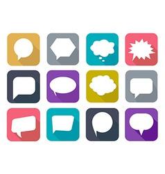 Colorful flat speech bubbles vector image