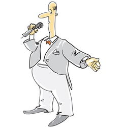 Compere with microphone vector image vector image