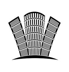 contour buildings line sticker design vector image vector image