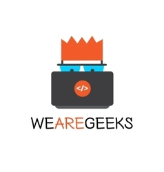 Creative geek logotype modern flat vector