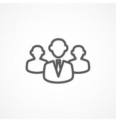 Customer line icon vector image vector image