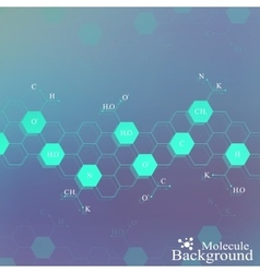 Dna molecule on blue background graphic vector