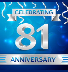 Eighty one years anniversary celebration design vector