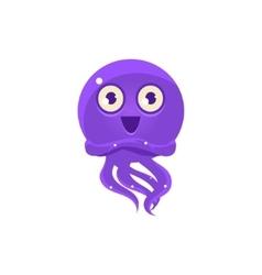 Happy funny octopus emoji vector