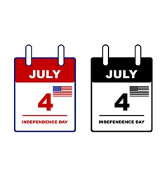 Independence day calendar vector