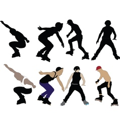 roller skaters - vector image vector image