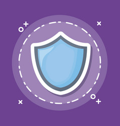 Shield icon image vector