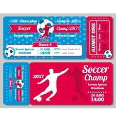 Soccer football sports ticket card retro vector image