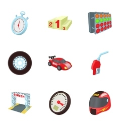 Speed cars icons set cartoon style vector