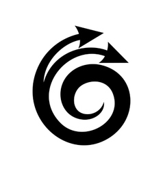 Spiral arrow design element icon simple style vector
