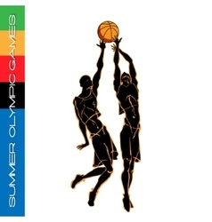 Summer Olympic igry volleyball silhouettes2 vector image