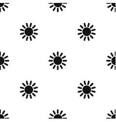 sun pattern seamless black vector image vector image