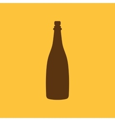 The champagne icon Wine symbol Flat vector image