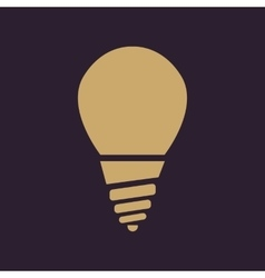The incandescent lamp icon Lamp and bulb vector image vector image